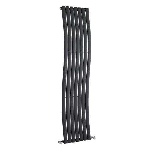 Hudson Reed Revive Wave Designer Radiator 1785mm x 413mm Anthracite