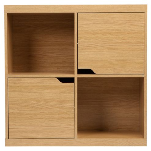 Seattle Storage Cube with Doors, Oak-effect