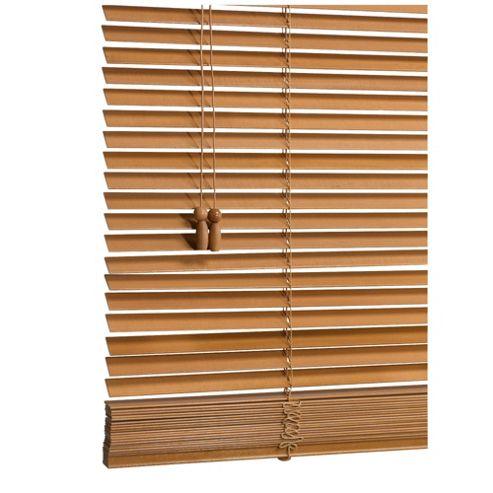 Sunflex Wood Venetian Blind W105 x Drop 160cm, 25mm Slats, Oak Effect