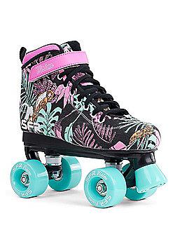 SFR Vision Canvas Kids Quad Roller Skates - Floral - Multi