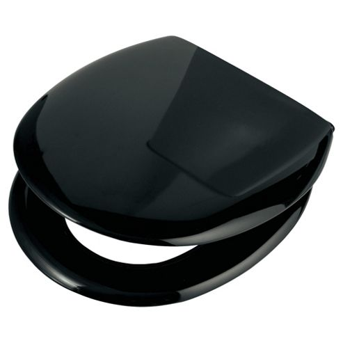 Croydex Anti-Bacterial Slow Close Plastic Toilet Seat Black