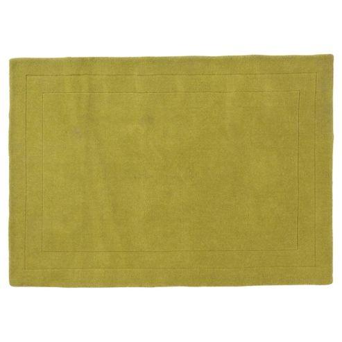 Tesco Rugs Wool Rug 100 x 150cm, Green