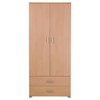 Fresno 2 Door Wardrobe, Beech Effect