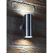 Auraglow Stainless Steel Up & Down Outdoor Wall Light - Cool White