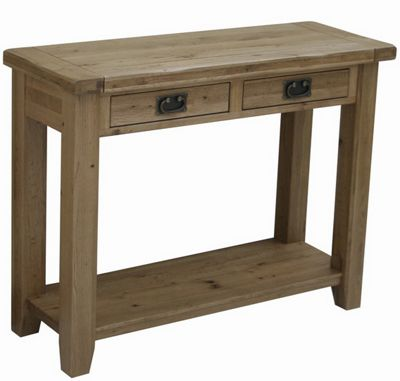Rutland Solid American White Oak Console Table