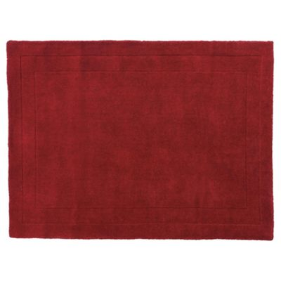 Tesco Rugs Wool Rug 100 x 150cm, Berry