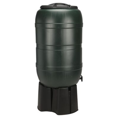 Strata Plastic Water Butt With Stand and Connector, 210L