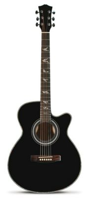Martin Smith W-401E Electro Acoustic Guitar with Cutaway - Black