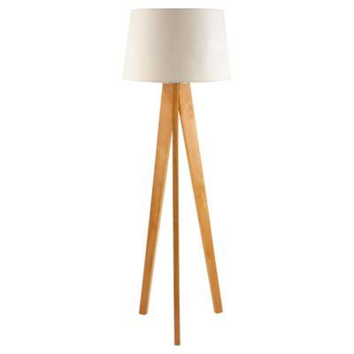 Tesco lighting tripod wooden floor lamp