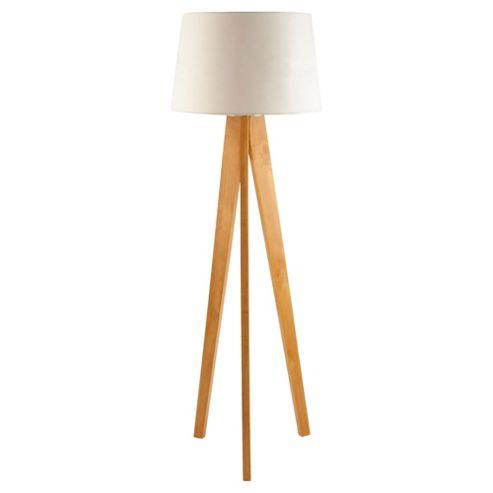 buy tesco lighting tripod wooden floor lamp from our floor With wooden tripod floor lamp ireland
