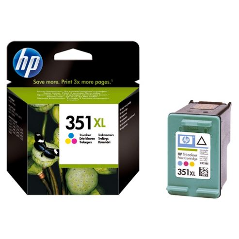 Hewlett-Packard No 351XL Inkjet Print Cartridges Tricolour- Duplicate