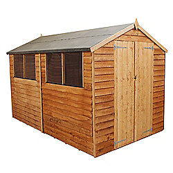 mercia overlap apex wooden shed 10x8ft