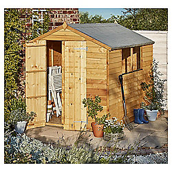 Mercia Overlap Apex Wooden Shed, 10x8ft