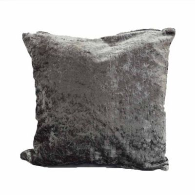 Rapport Silver Crushed Velvet Cushion Cover- 43x43cm