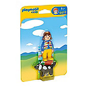 Playmobil 1.2.3 Woman with Dog 6977