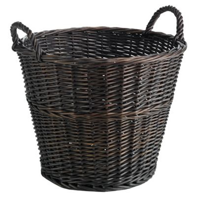 Tesco Large Round Wicker Basket, Chocolate