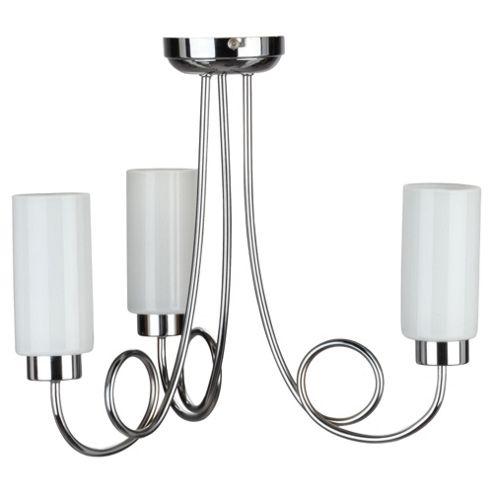 Tesco Lighting Cylinder Ceiling Fitting 3 Light