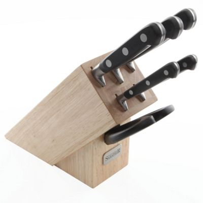 Professional Sabatier 6 piece Sloping Knife Block with Scissors