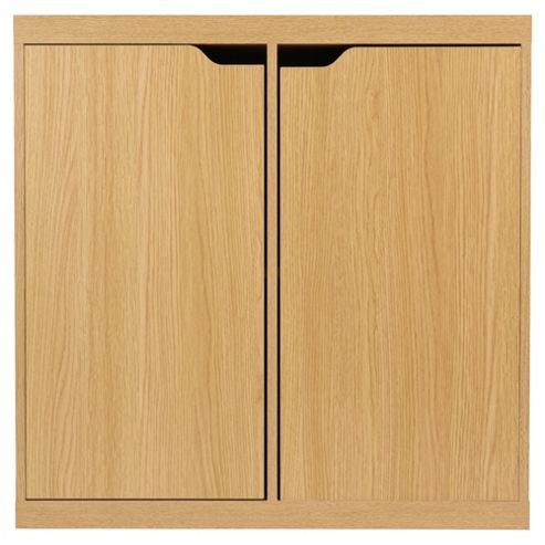 Seattle 2 Door Storage Cube, Oak-effect