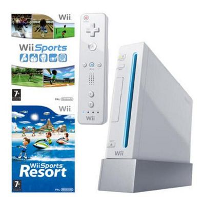 Nintendo Wii With Sports Resort - White