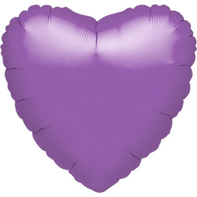 Spring Lilac Heart Balloon - 18 inch Foil