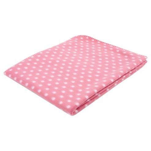 Tesco Kids Polka Dot Fleece - Pink