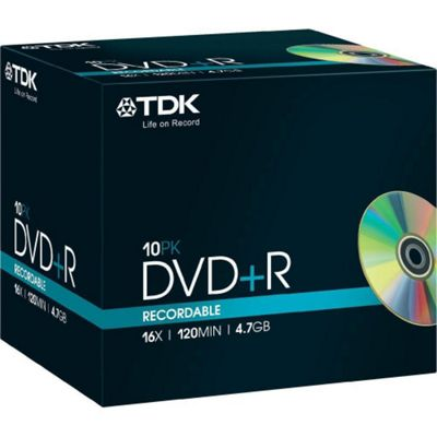 TDK (T19447) DVD+R pack of 10