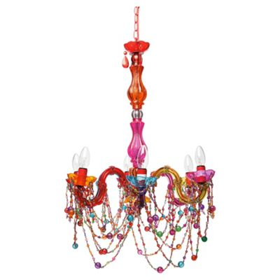 Buy tesco marie therese chandelier multi colour from our chandeliers tesco marie therese chandelier multi colour aloadofball Images