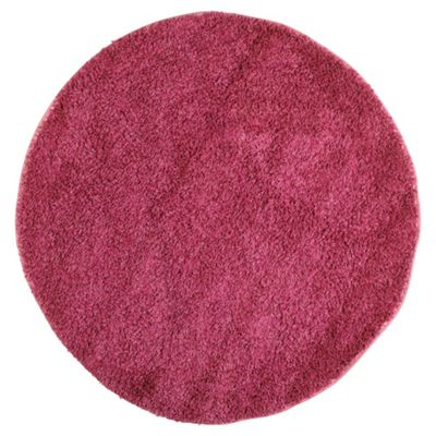 Tesco Rugs Shaggy Circle Rug Pink