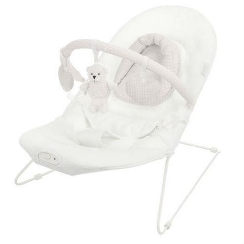 Obaby B is for Bear Vibrating Bouncer, White