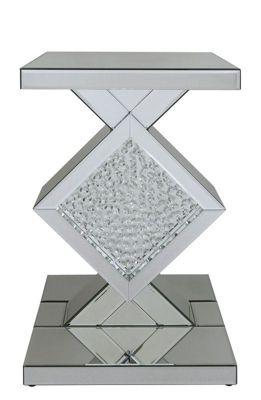 Astoria Mirror Diamond End Table
