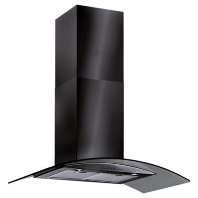 Baumatic BT10.3BGL 100cm Black Curved Glass Chimney Hood