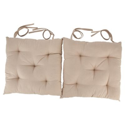 Tesco Taupe Seat Pads, 2 Pack