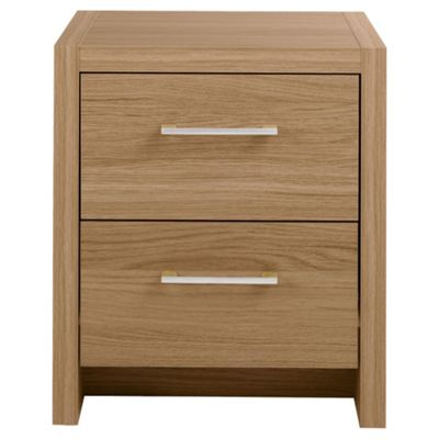 Manhattan Bedside Table, Oak Effect