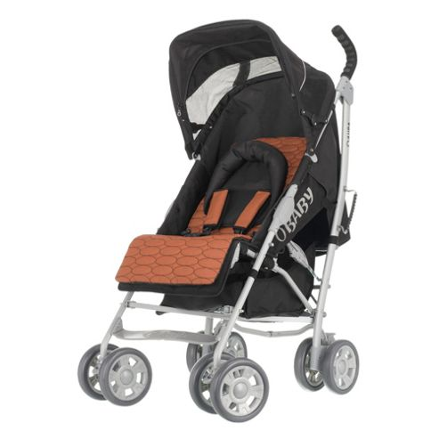 Obaby Aura Deluxe Pushchair with Orange Accessory Pack