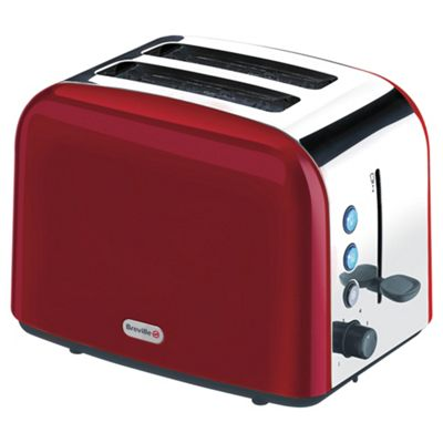 breville vtt202 2 slice toaster red
