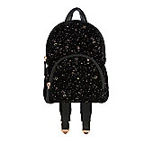 F&F Glitter Velvet Mini Backpack Black One Size