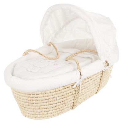 Obaby B Is For Bear Moses Basket, White