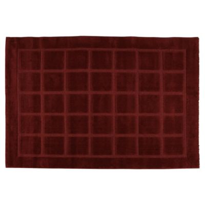 Tesco Rugs Squares Rug 120X170Cm Red
