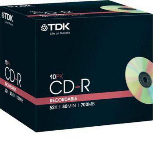 TDK CD-R 52X 10 pack
