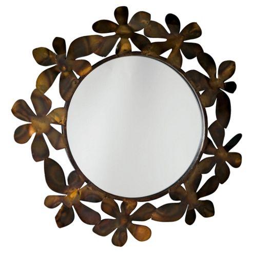 Daisy Chain Bronze Mirror 74Cm