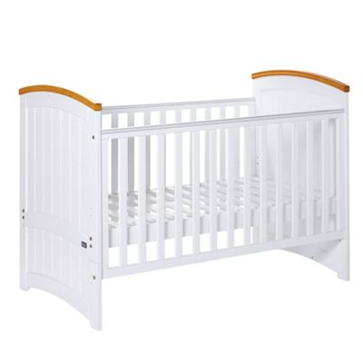 Tutti Bambini Barcelona Cot Bed, White/beech