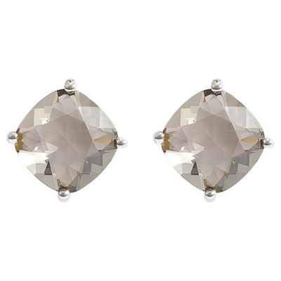 ICE BRIGHT earrings, Sterling Silver Green Crystal Solitaire, made with SWAROVSKI ELEMENTS