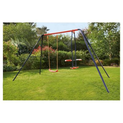 Tesco Single Swing & Glider Set