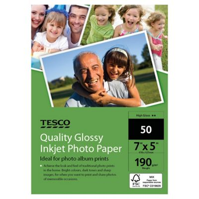 Tesco quality glossy inkjet Photo Paper - 50 Sheets