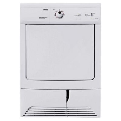 Zanussi ZDC37200W Condenser Tumble Dryer, 7 kg Load, C Energy Rating. White