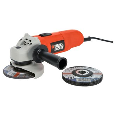 BLACK+DECKER 710W Small Angle Grinder CD115A5-GB