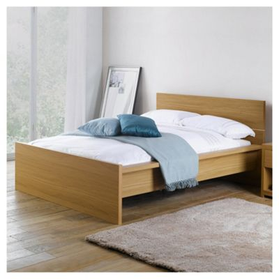 Manhattan Double Bed Frame, Oak-effect