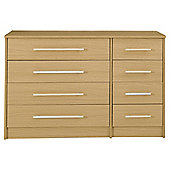 Kendal Oak Effect Chest of Drawers, 8 Drawer Chest