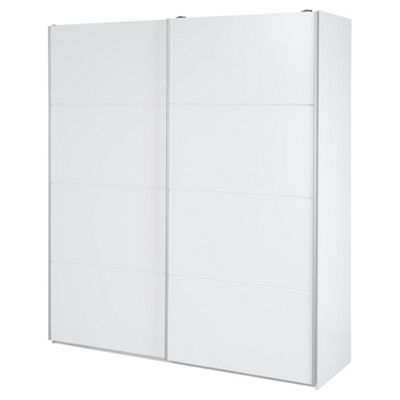 Smith Wide Sliding Double Wardrobe, White